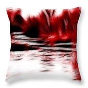Wetland Heat Throw Pillow