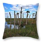 Wetland Palms Throw Pillow