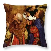 Weyden Bladelin Triptych  Right Wing  Throw Pillow