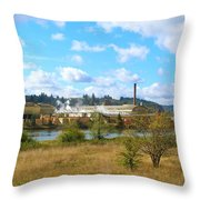 Weyerhaeuser Lumber Mill Throw Pillow