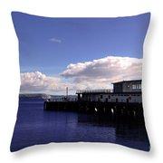 Weymouth Pier Throw Pillow