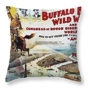 W.f. Cody Poster, 1894 Throw Pillow
