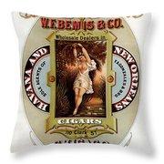 W.f.bemis And Co - Tivoli Garden Cigar Store - Vintage Advertising Poster Throw Pillow