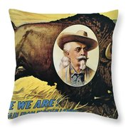 W.f.cody Poster, 1908 Throw Pillow