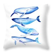 Whale Friends Throw Pillow