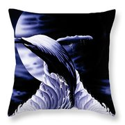 Whale Moon Throw Pillow