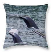 Whale Of Tales Throw Pillow