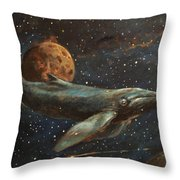 Whale Of The Universe Throw Pillow