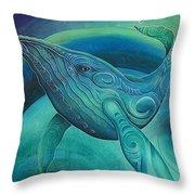 Whale Tohora By Reina Cottier Throw Pillow
