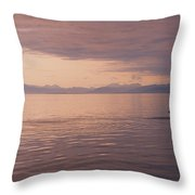 Whale Tail At Surface Throw Pillow