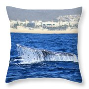 Whale Tail In Cabo Throw Pillow