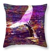 Whale Tail Ocean Animal Sea Water  Throw Pillow