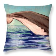 Whale Tail    Pastel   Sold Throw Pillow