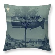 Whale Watch Throw Pillow