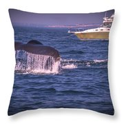 Whale Watching - Humpback Whale 3 Throw Pillow