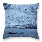 Whale Watching Throw Pillow