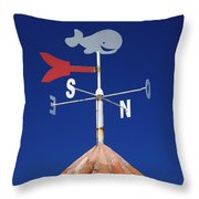 Whale Weather Vane Throw Pillow