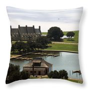 Whalehead Club And Boathouse Throw Pillow