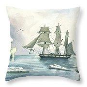 Whaler Throw Pillow by Juan Bosco