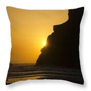 Whales Head Beach Oregon Sunset 2 Throw Pillow