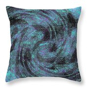 Whales, Sharks And Other Sea Life Throw Pillow
