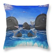 Whales Tail Waterfall Throw Pillow