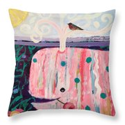 Whale's Tale The Beginning Of The End Throw Pillow