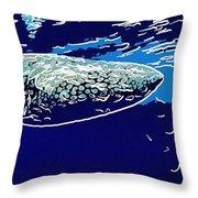 Whaleshark  Throw Pillow