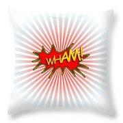 Wham Explosion Throw Pillow
