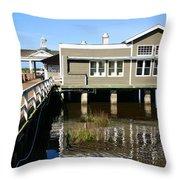 Wharf At Jekyll Island Throw Pillow
