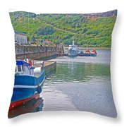 Wharf Near Angelmo Fish Market In Puerto Montt-chile  Throw Pillow