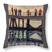 Wharf Reflections@ Halifax N. S. Throw Pillow