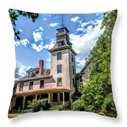 Wharton Mansion Throw Pillow