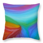 What A Colorful World Throw Pillow