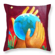 What A Wonderful World ... Throw Pillow