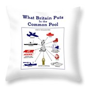 What Britain Puts In The Common Pool Throw Pillow