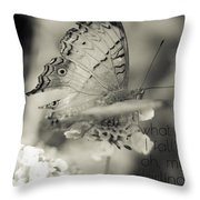 What If I Fall Throw Pillow