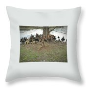 What In The Roots Throw Pillow