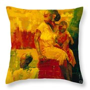 What Is It Ma Throw Pillow by Bayo Iribhogbe