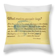 What Makes People Buy Throw Pillow