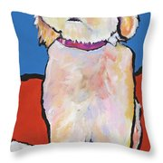 What No Diamonds Throw Pillow by Pat Saunders-White