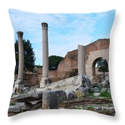 Basilica Aemilia Throw Pillow
