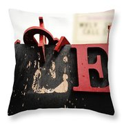 What Rhymes With E Throw Pillow by Dutch Bieber