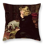 What Shall I Read Throw Pillow by Florence Marlowe