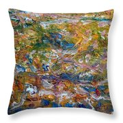 What The Comet Left Throw Pillow
