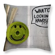 Whatchu Looking At Handsome Throw Pillow