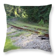 Whats Around The Bend Throw Pillow
