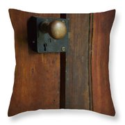 What's Behind The Door Throw Pillow