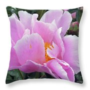 What's In A Name - Bowl Of Beauty Peony Throw Pillow