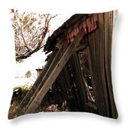 What's Left Of The Diner Throw Pillow